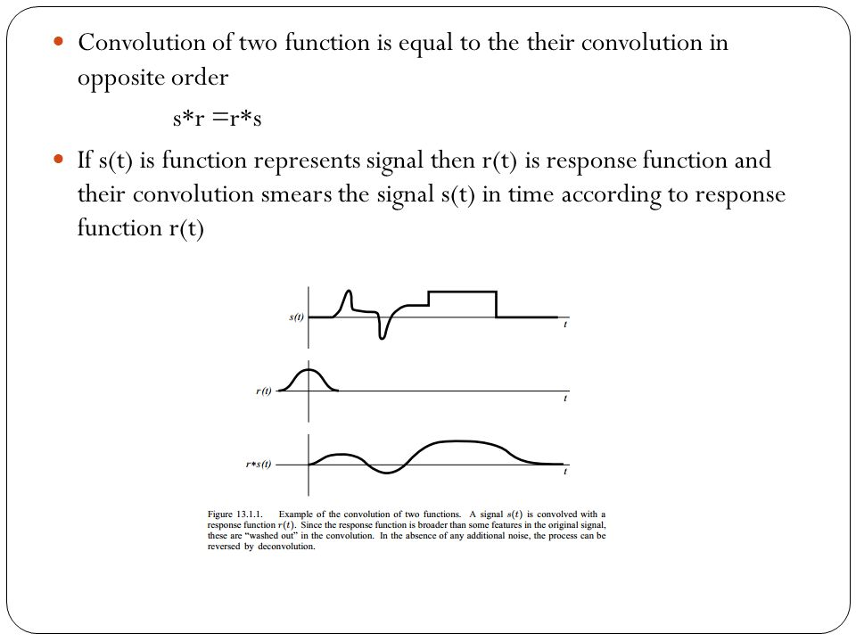 Convolution of two function is equal to the their convolution in opposite order