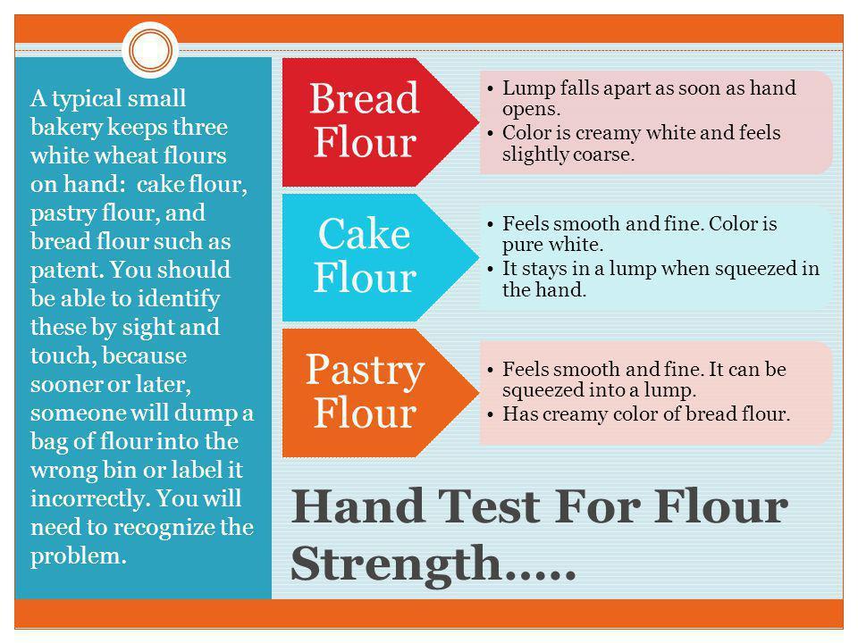 Hand Test For Flour Strength…..