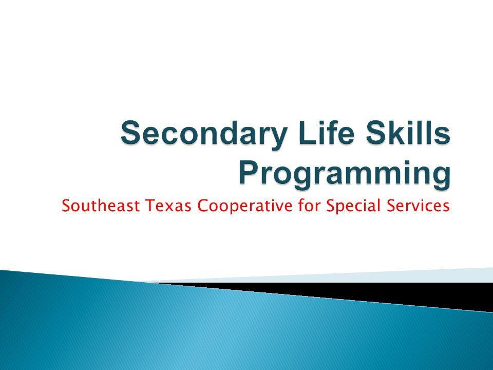 Secondary Life Skills Programming