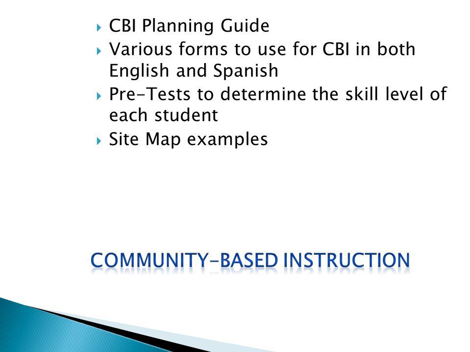 Community-Based Instruction