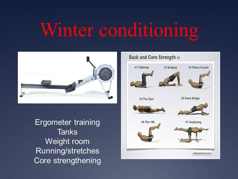 Winter conditioning Ergometer training Tanks Weight room