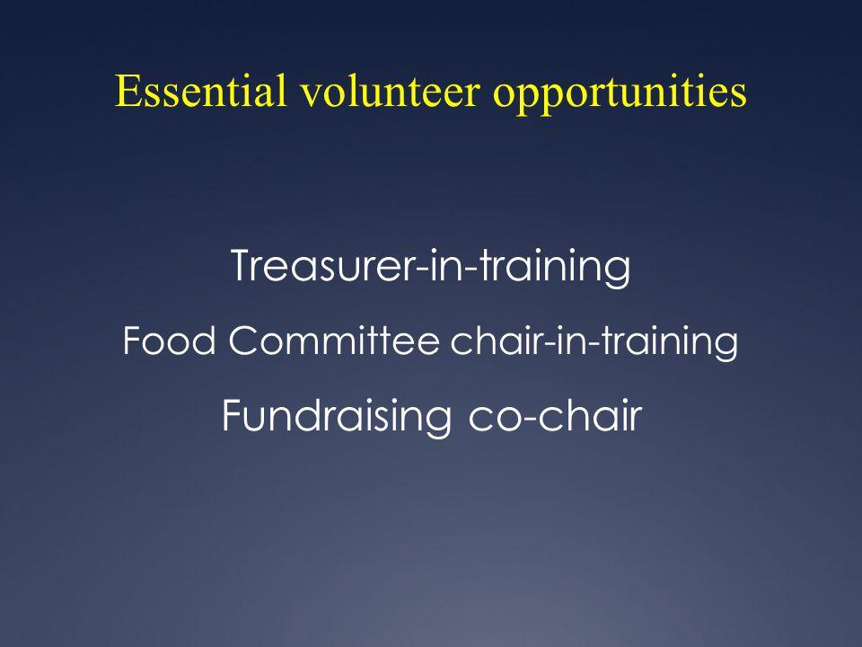 Essential volunteer opportunities