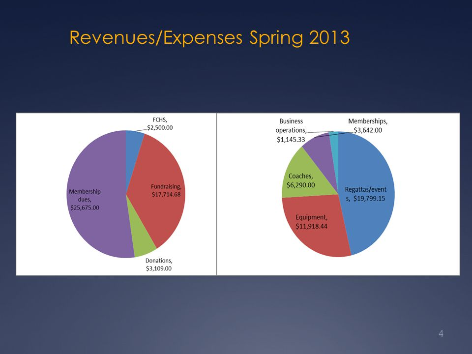 Revenues/Expenses Spring 2013