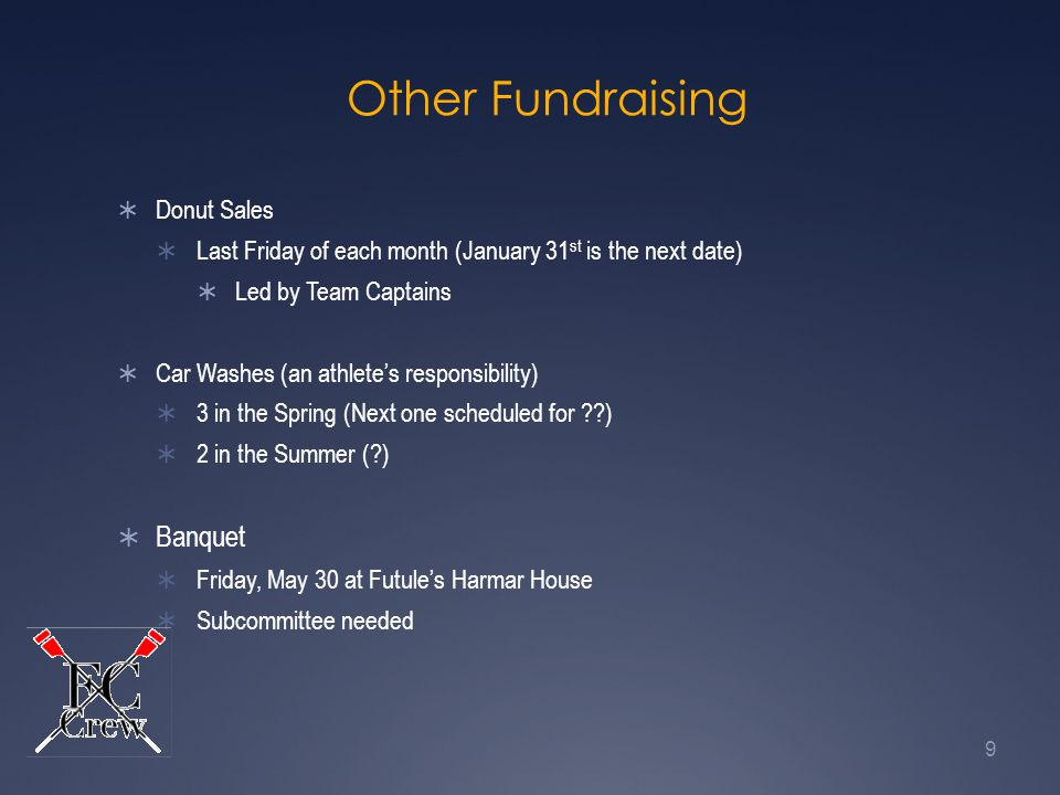 Other Fundraising Banquet Donut Sales