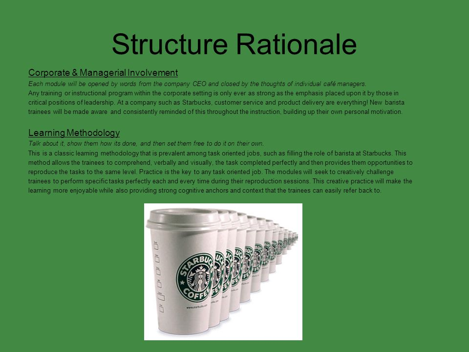 Structure Rationale Corporate & Managerial Involvement
