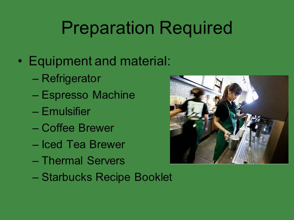 Preparation Required Equipment and material: Refrigerator