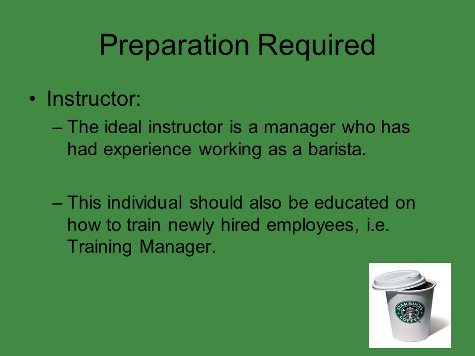 Preparation Required Instructor: