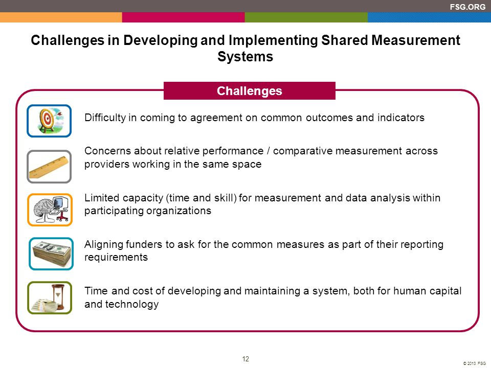 Challenges in Developing and Implementing Shared Measurement Systems