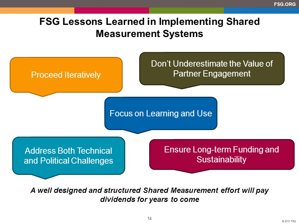 FSG Lessons Learned in Implementing Shared Measurement Systems