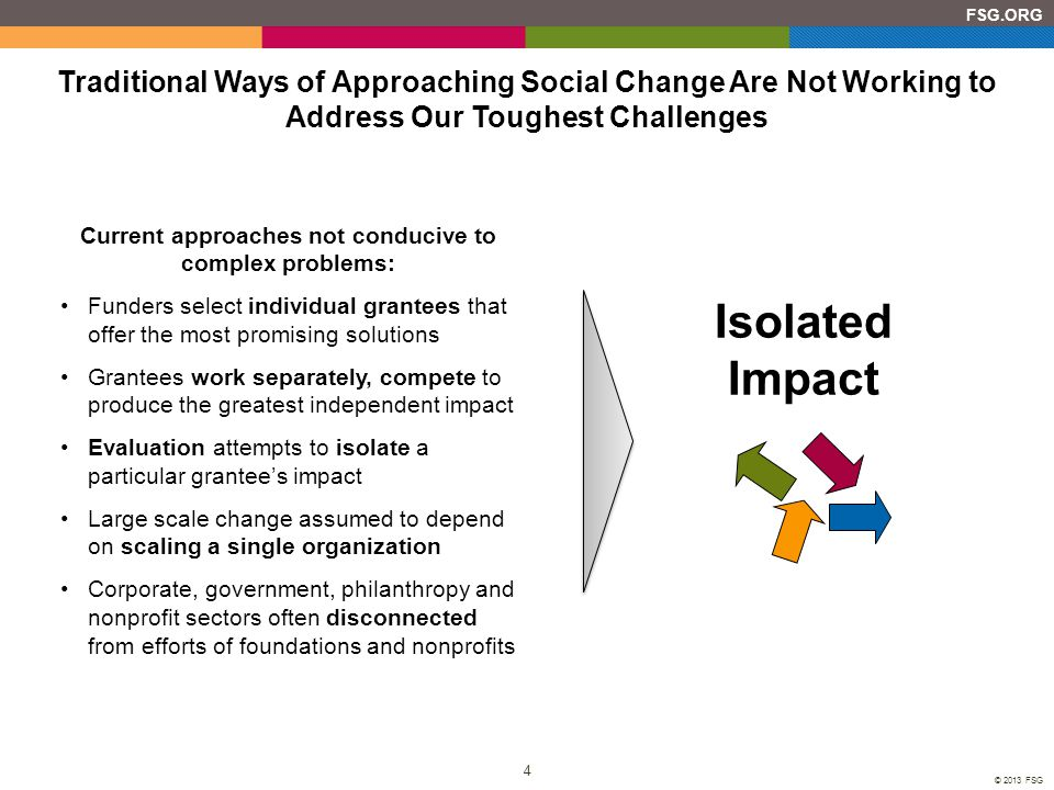 Current approaches not conducive to complex problems: