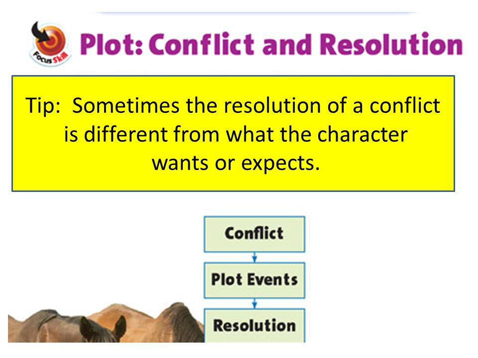 Tip: Sometimes the resolution of a conflict