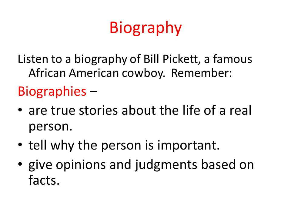 Biography Biographies –