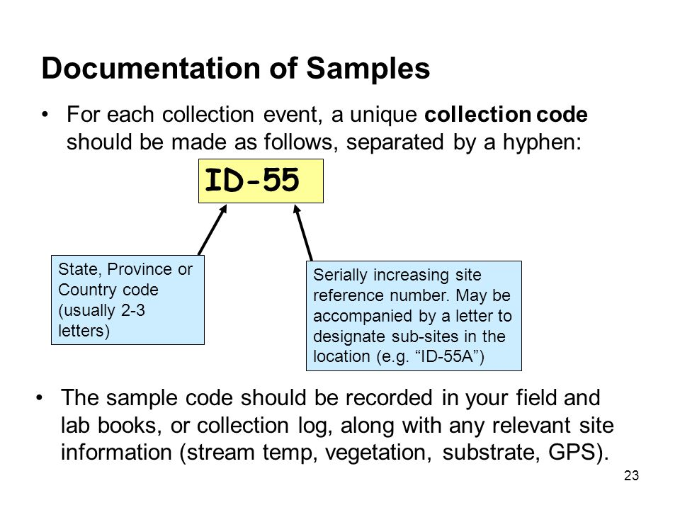 Documentation of Samples