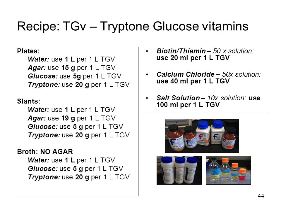 Recipe: TGv – Tryptone Glucose vitamins