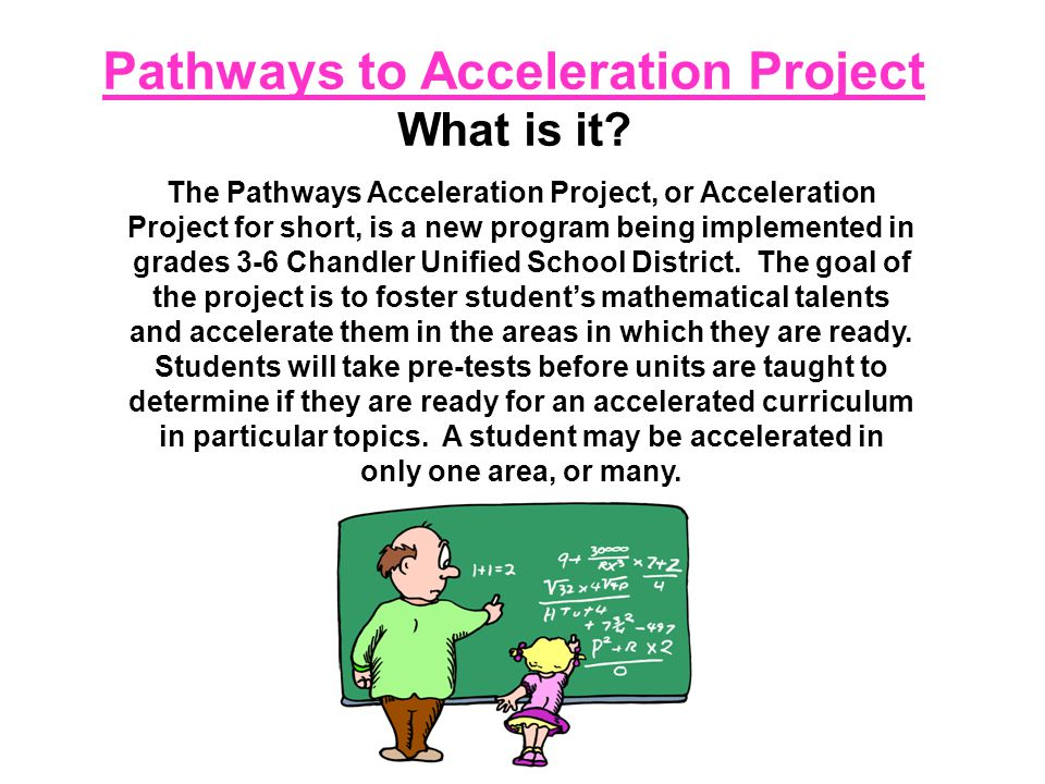 Pathways to Acceleration Project