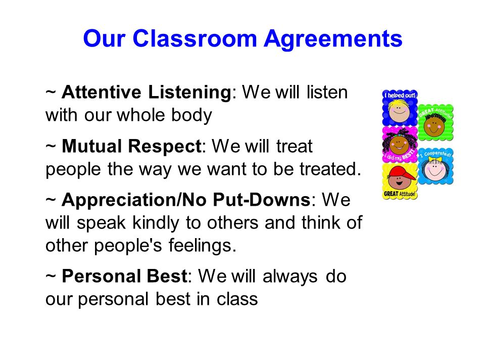 Our Classroom Agreements