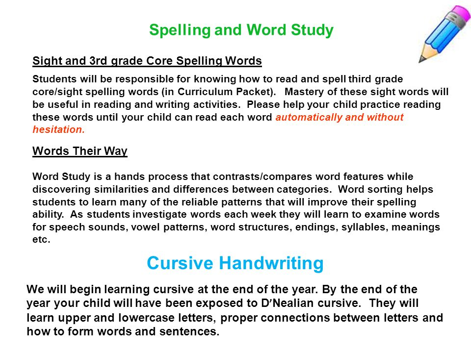 Spelling and Word Study