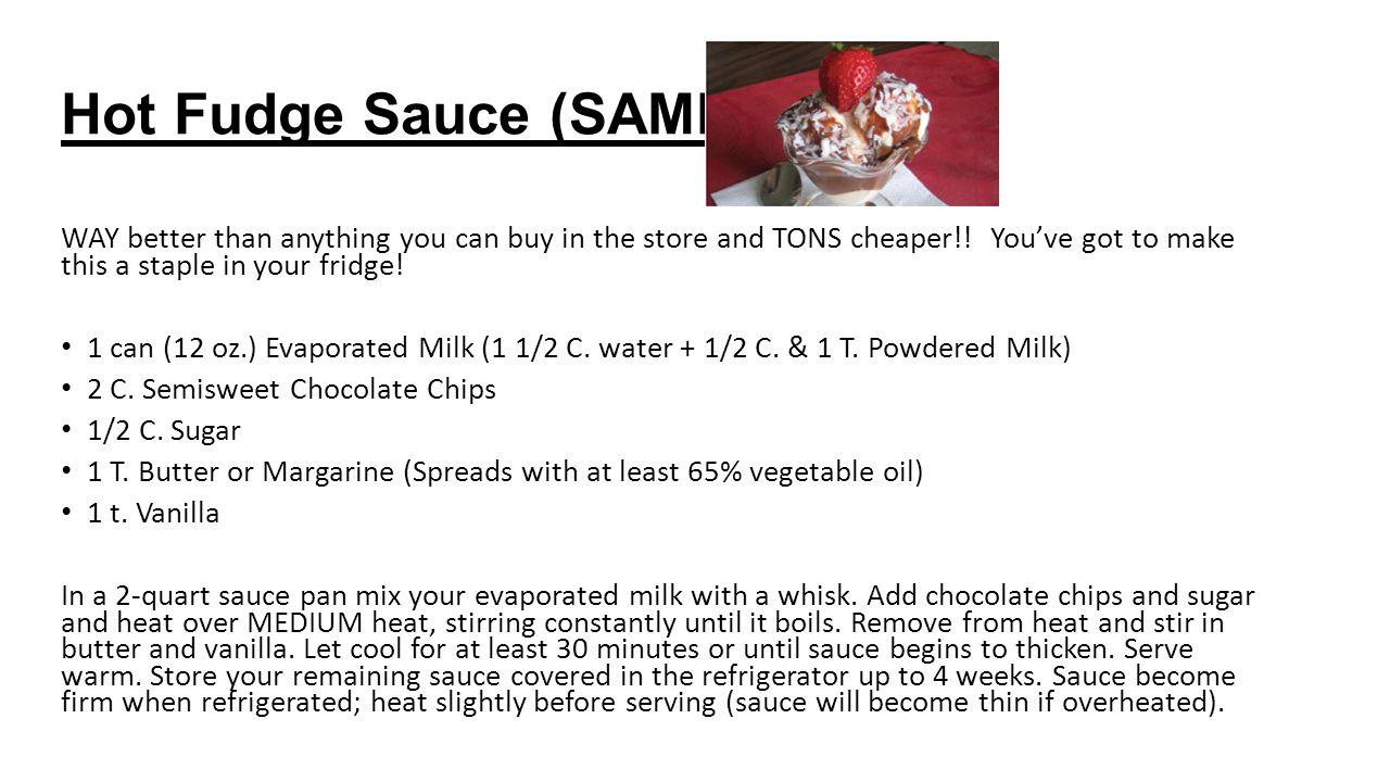 Hot Fudge Sauce (SAMPLE)