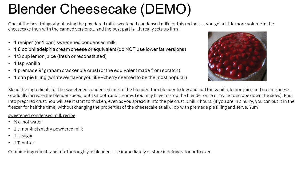 Blender Cheesecake (DEMO)
