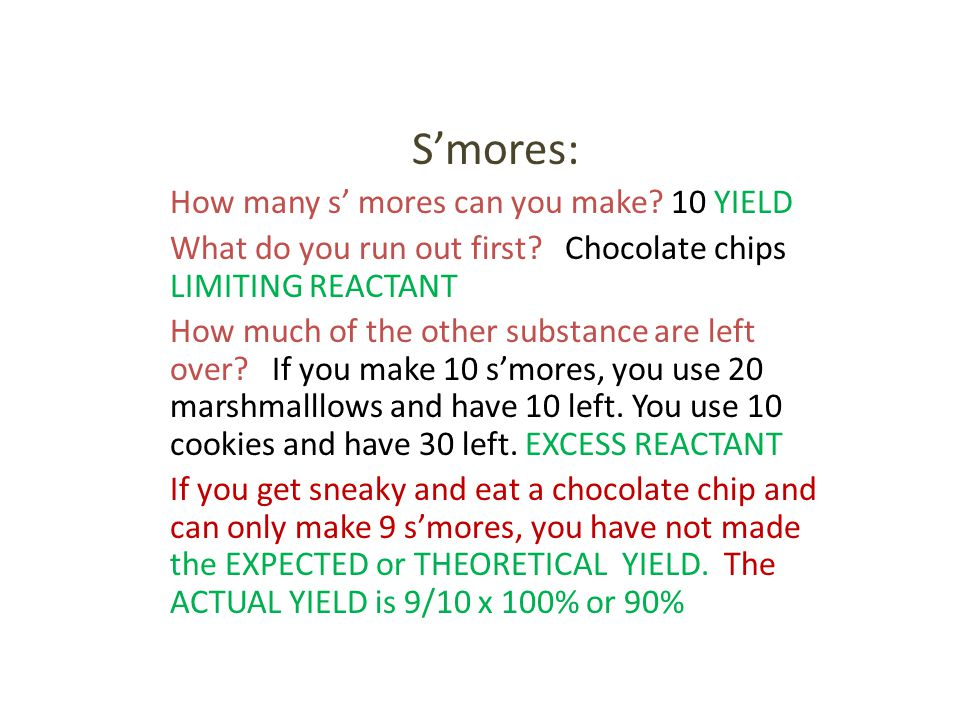 S'mores: How many s' mores can you make 10 YIELD