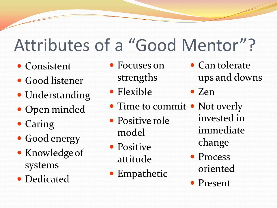 Attributes of a Good Mentor