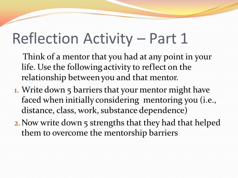 Reflection Activity – Part 1
