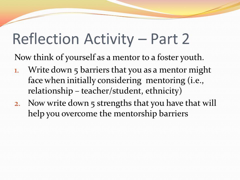 Reflection Activity – Part 2