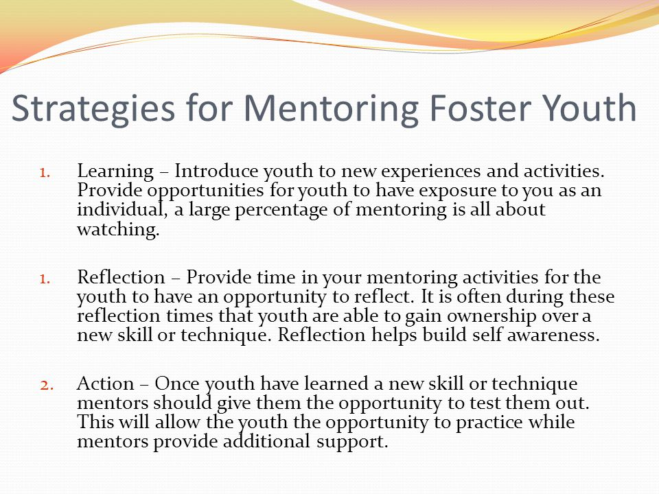 Strategies for Mentoring Foster Youth
