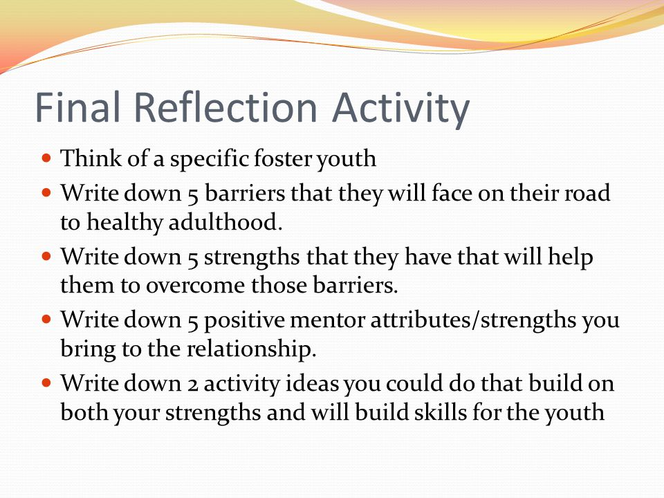 Final Reflection Activity