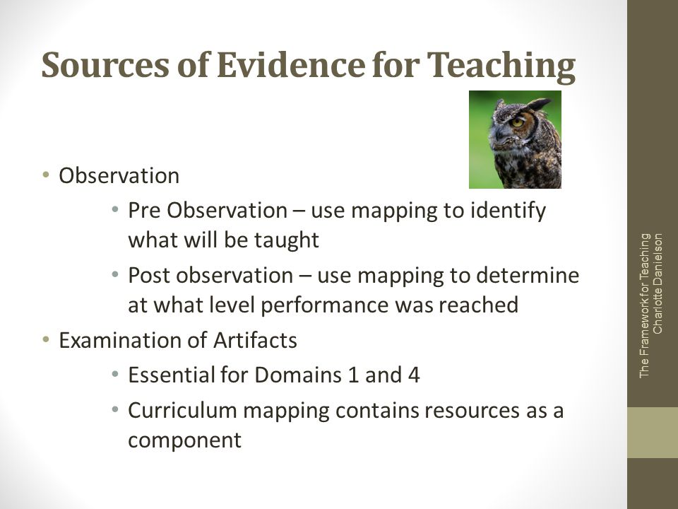 Sources of Evidence for Teaching