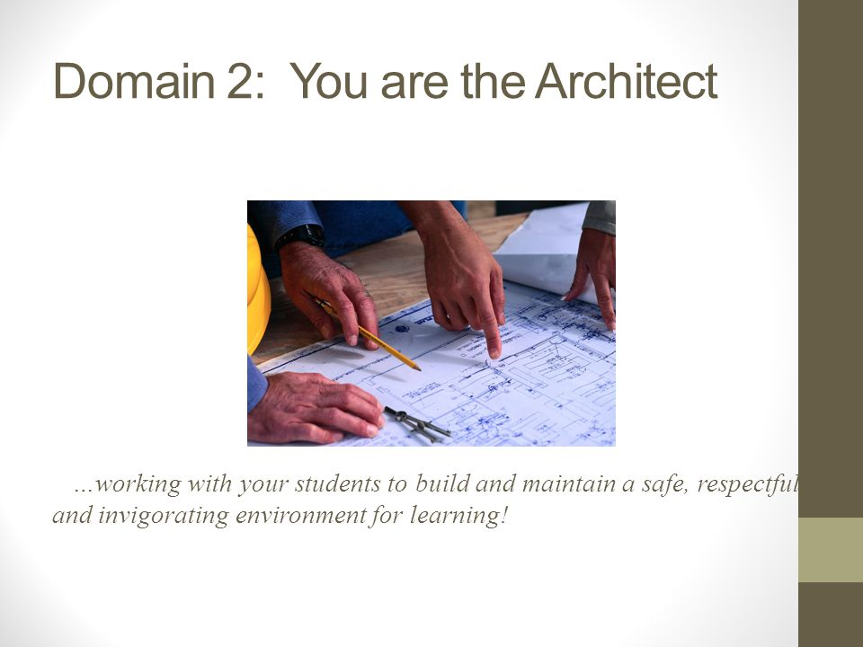 Domain 2: You are the Architect