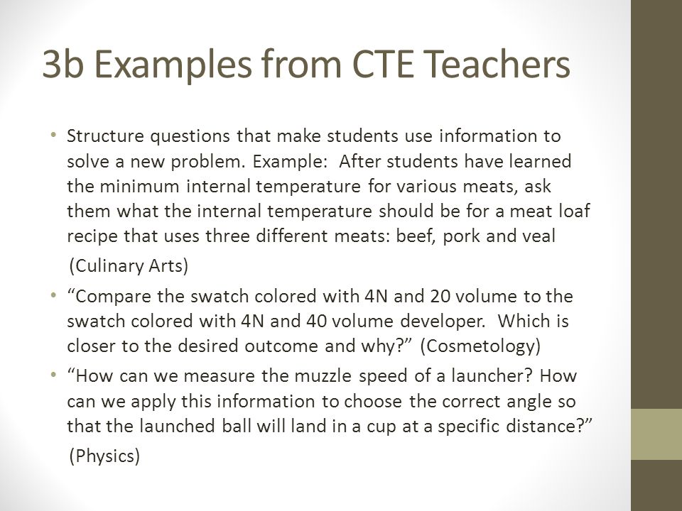 3b Examples from CTE Teachers