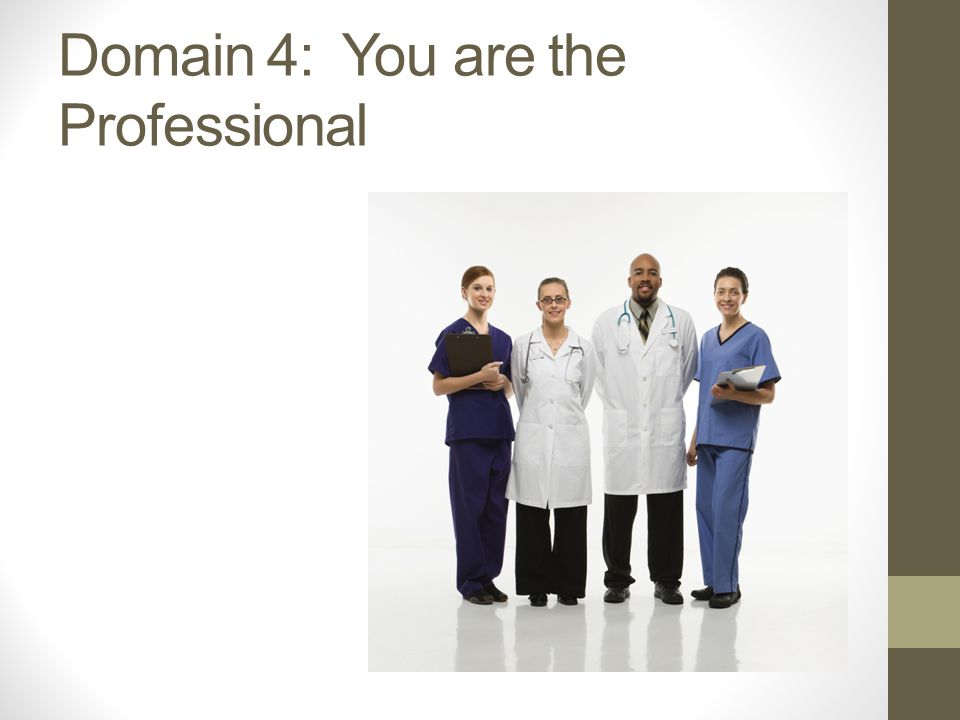 Domain 4: You are the Professional