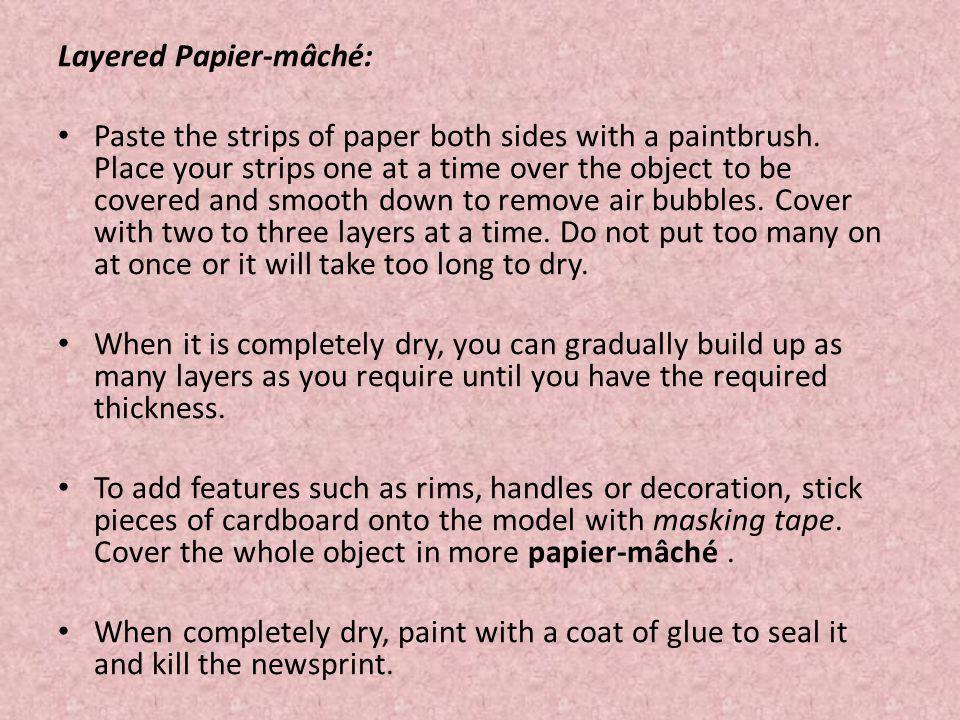 Layered Papier-mâché: