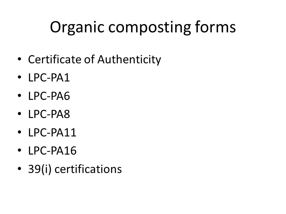 Organic composting forms