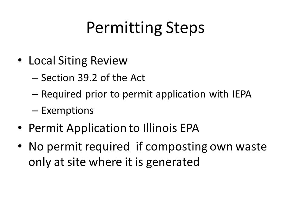 Permitting Steps Local Siting Review