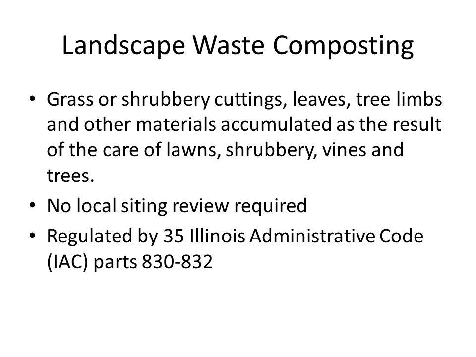 Landscape Waste Composting