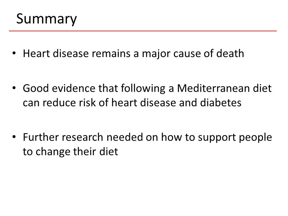 Summary Heart disease remains a major cause of death