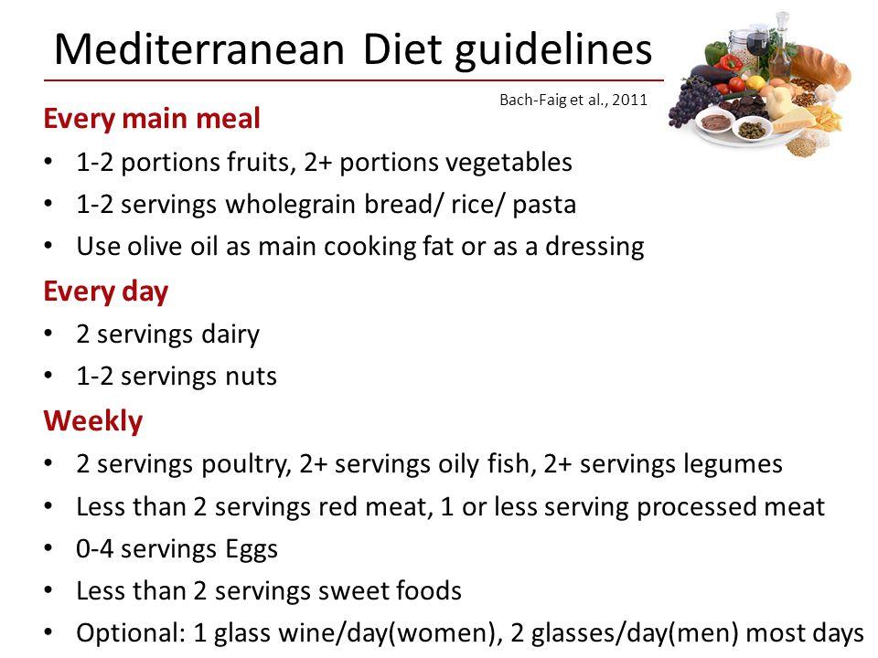 Mediterranean Diet guidelines