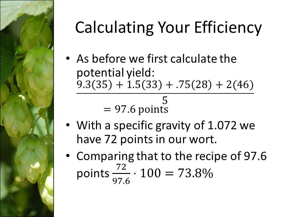 Calculating Your Efficiency