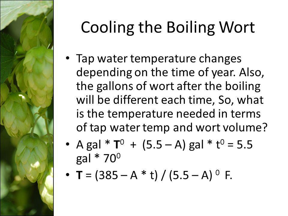 Cooling the Boiling Wort