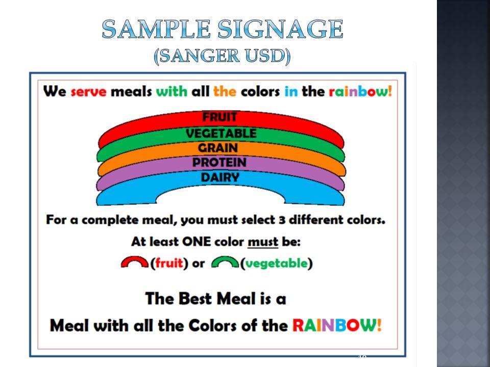 Sample Signage (sanger usd)
