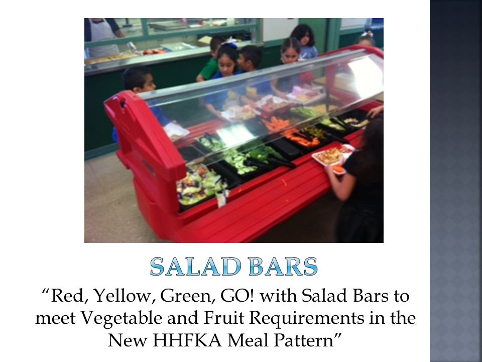 SALAD BARS Good morning and welcome to this presentation dedicated to salad bars. Thank you for joining us today.