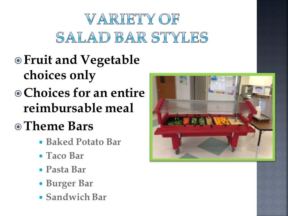Variety of Salad Bar Styles