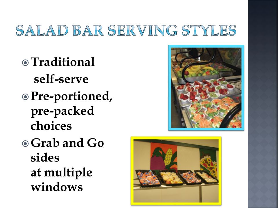 Salad Bar Serving Styles