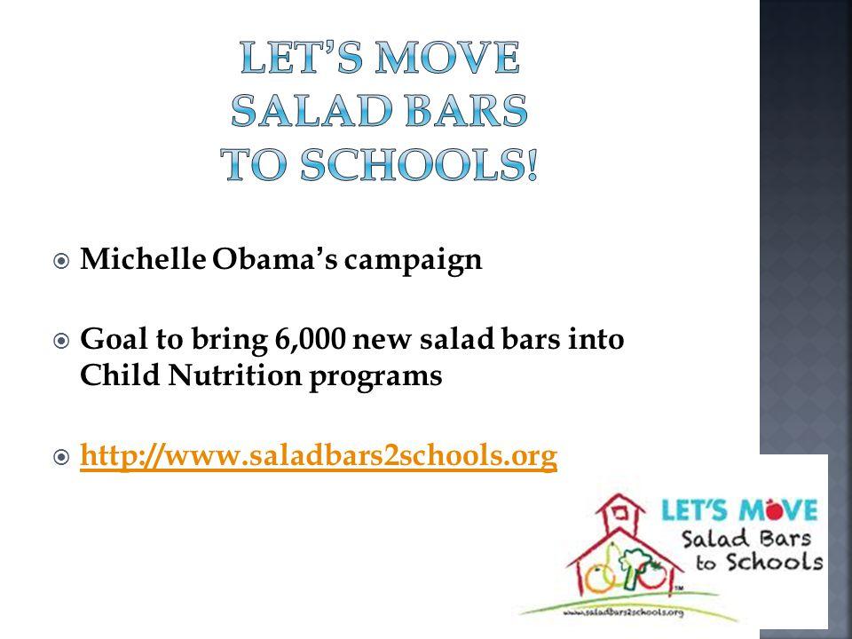 Let's Move Salad Bars to Schools!