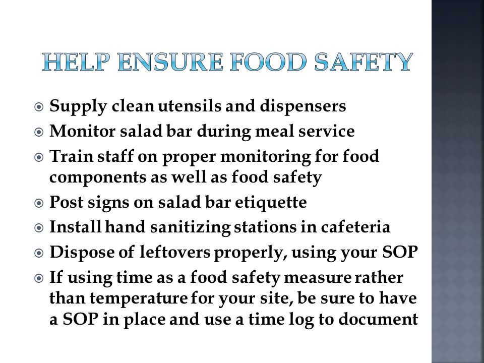 Help Ensure Food Safety