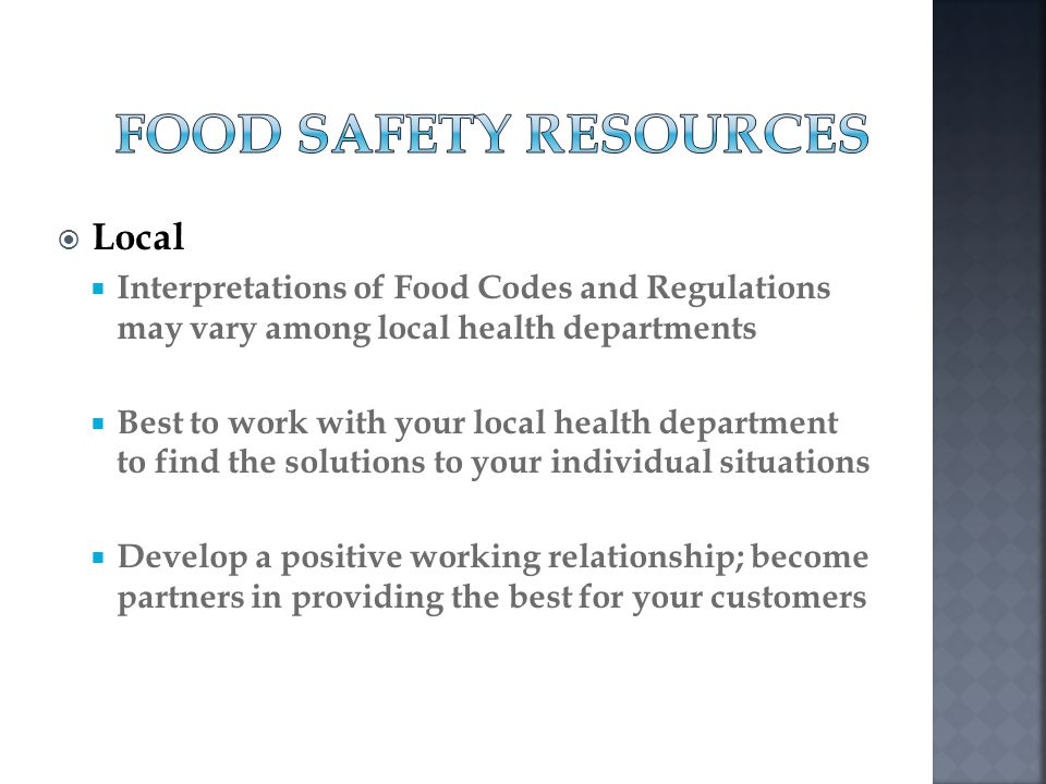 Food Safety Resources Local