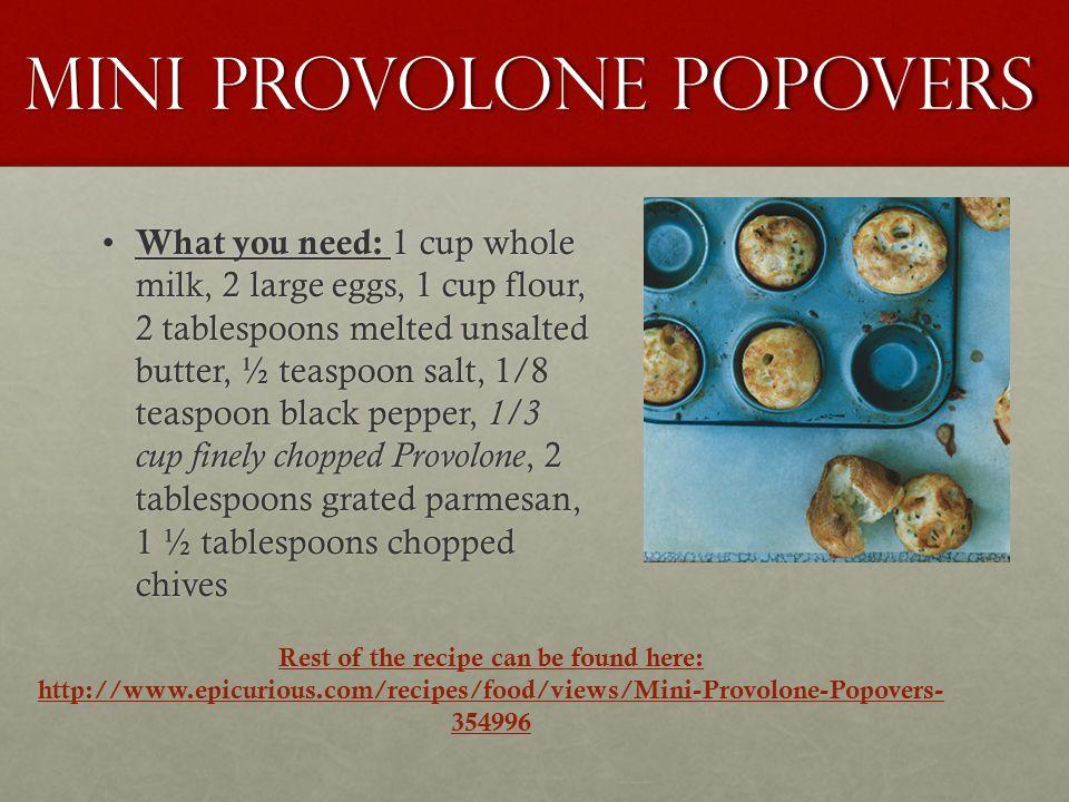 Mini provolone popovers