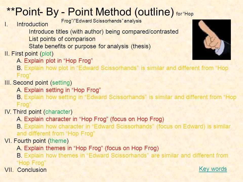 - Point Method (outline) for Hop Frog / Edward Scissorhands analysis